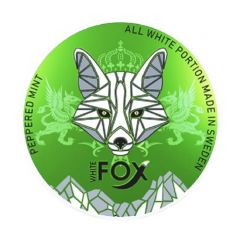 WHITE FOX Peppered Mint Slim Extra Strong 16.5mg